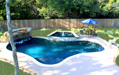 Beach Entry Swimming Pool Designs San Antonio TX